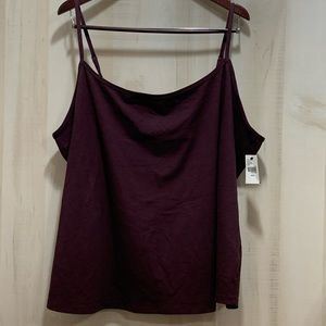 Lane Bryant Brown Tank adjustable Straps 22-24